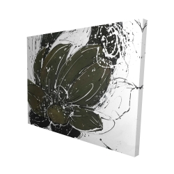 Canvas 48 x 60 - 3D - Abstract flower with paint splash