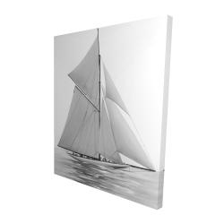 Canvas 48 x 60 - 3D - Sailing ship