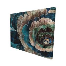 Canvas 48 x 60 - 3D - Blue flower montage