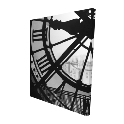 Canvas 48 x 60 - 3D - Clock at the orsay museum