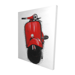 Canvas 48 x 60 - 3D - Red italian scooter