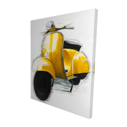 Canvas 48 x 60 - 3D - Yellow italian scooter