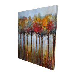 Canvas 48 x 60 - 3D - Colorful leaves trees