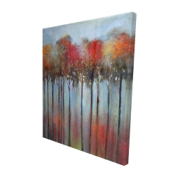 Canvas 48 x 60 - 3D - Abstract and colorful forest