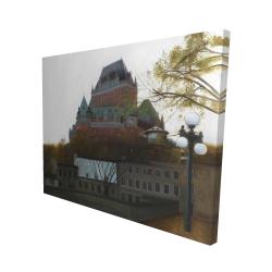 Canvas 48 x 60 - 3D - Le château de frontenac in autumn