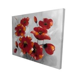 Canvas 48 x 60 - 3D - Anemone flowers