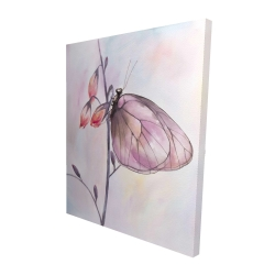 Canvas 48 x 60 - 3D - Delicate butterfly