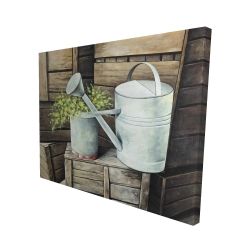 Canvas 48 x 60 - 3D - Vintage watering can