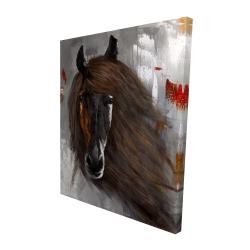 Canvas 48 x 60 - 3D - Proud brown horse