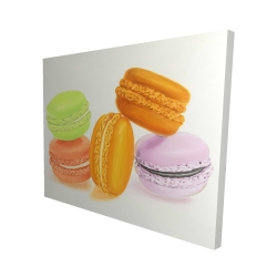 Canvas 48 x 60 - 3D - Small bites of macaroons