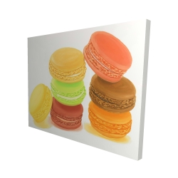Canvas 48 x 60 - 3D - Delicious macaroons