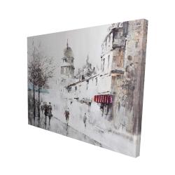 Canvas 48 x 60 - 3D - Gray city street