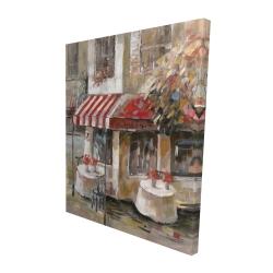Canvas 48 x 60 - 3D - Sunny restaurant terrace