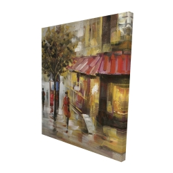 Canvas 48 x 60 - 3D - Abstract street with passers