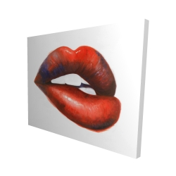 Canvas 48 x 60 - 3D - Beautiful red mouth