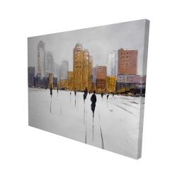 Canvas 48 x 60 - 3D - City on the horizon