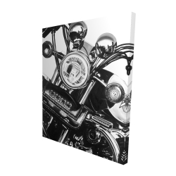 Canvas 48 x 60 - 3D - Realistic motorcycle