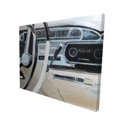 Canvas 48 x 60 - 3D - 1950s car dashboard