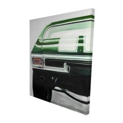Canvas 48 x 60 - 3D - Classic dark green car