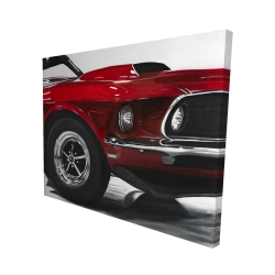 Canvas 48 x 60 - 3D - Classic red car