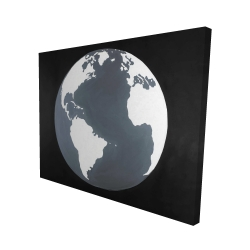 Canvas 48 x 60 - 3D - Earth satellite view