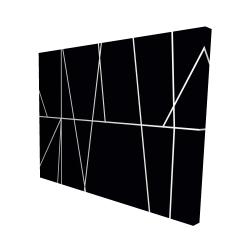 Canvas 48 x 60 - 3D - White stripes on black background