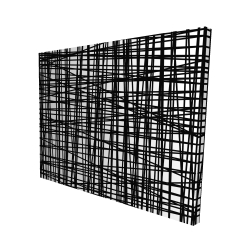 Canvas 48 x 60 - 3D - Abstract small stripes