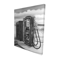 Canvas 48 x 60 - 3D - Old gas pump