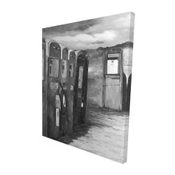 Canvas 48 x 60 - 3D - Old gas pumps