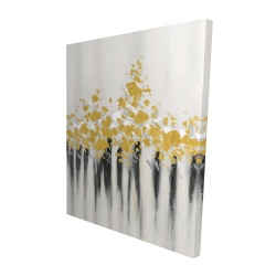 Canvas 48 x 60 - 3D - Abstract gold flowers