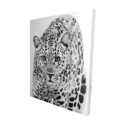Canvas 48 x 60 - 3D - Leopard ready to attack