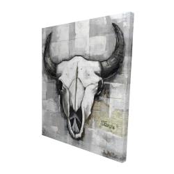 Canvas 48 x 60 - 3D - Industrial style bull skull
