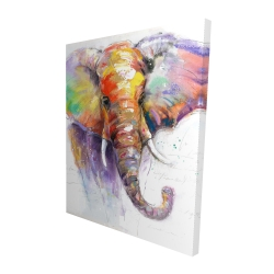 Canvas 48 x 60 - 3D - Beautiful and colorful elephant