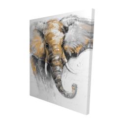 Canvas 48 x 60 - 3D - Beautiful golden elephant