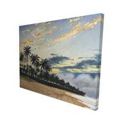 Canvas 48 x 60 - 3D - Tropical summer moments