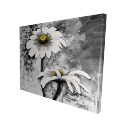 Canvas 48 x 60 - 3D - Abstract daisies flowers