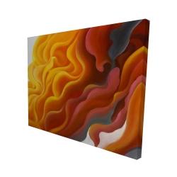 Canvas 48 x 60 - 3D - Colorful smoke