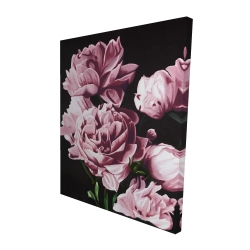 Canvas 48 x 60 - 3D - Pink peonies
