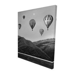 Canvas 48 x 60 - 3D - Air balloon landscape
