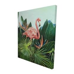 Canvas 48 x 60 - 3D - Tropical flamingo