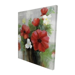 Canvas 48 x 60 - 3D - Abstract wild flowers bundle