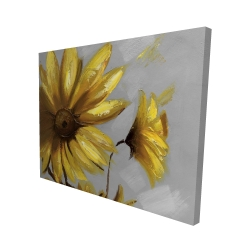 Canvas 48 x 60 - 3D - Mountain arnica flowers