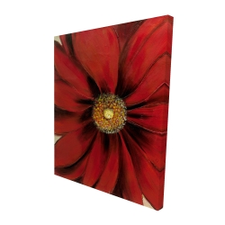 Canvas 48 x 60 - 3D - Red daisy