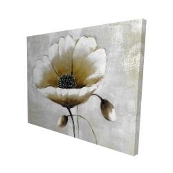 Canvas 48 x 60 - 3D - Modern beige flower