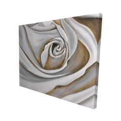 Canvas 48 x 60 - 3D - White rose closeup