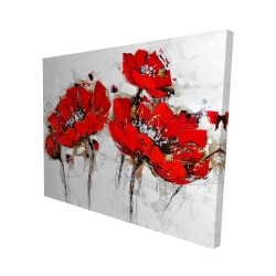 Canvas 48 x 60 - 3D - Abstract poppy flowers