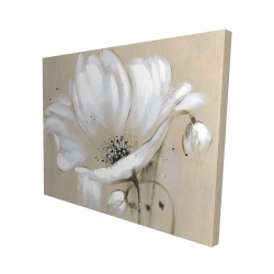 Canvas 48 x 60 - 3D - White abstract wild flower