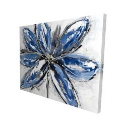 Canvas 48 x 60 - 3D - Blue petal
