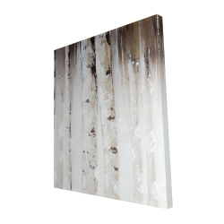 Canvas 48 x 60 - 3D - Abstract white birches