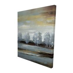 Canvas 48 x 60 - 3D - Grey landscape
